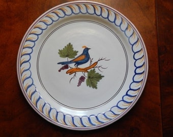 Cute French Country Bird Motif Plate!