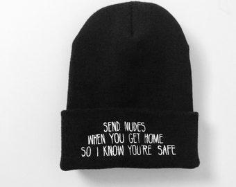 "Creature of Habit -""Stay Safe"" beanie"