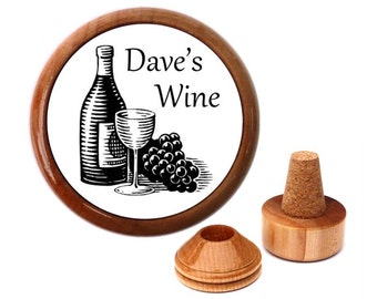 Unique wine gift. Personalised Wine Stoppers. Personalised wine gift idea. Gift for wine lover. Wine Accessories