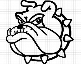 Bulldog dxf file for cnc cutting. University of Redlands style