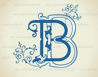 Vintage Monogram BB | Wedding logo | Wedding Clip Art
