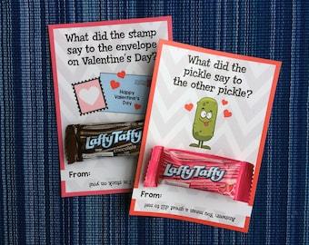 Joke Valentine - Instant Download - Valentine's Day Digital Printable -  Digital Valentines - Kids Valentines - Jokes - Funny Valentines