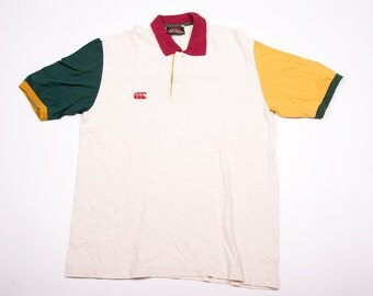 Vintage 90s Canterbury New Zealand Rugby Polo Shirt