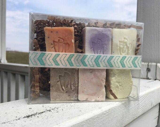 Soap Sampler - Exfoliating Sampler, Exfoliating Soap Sampler, Sample Size Soaps, Guest Size Soap, Soap Favors