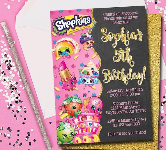 Shopkins Invitation Shopkins Birthday Invitation Birthday