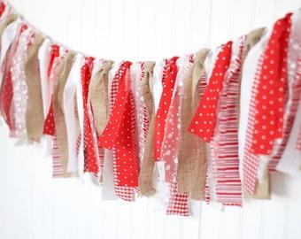 Farmhouse Christmas Fabric Garland