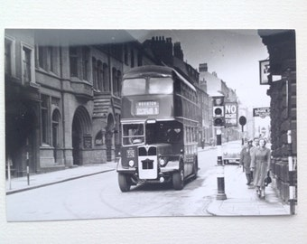 Photo of Old Bus Beeston Leeds Yorkshire, Vintage Transport Picture Old Advertising