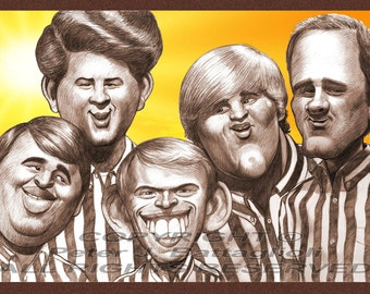 Beach Boys Poster Caricature Art Print Limited Edition