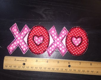 Ready to ship blinged XOXO patch