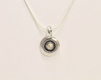 Mustard Seed Pendant on Sterling Silver Chain, Faith of a Mustard Seed Matthew 17:20 Bible Jewelry, Gift For Her, Inspirational Jewelry