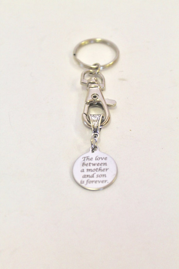 The Love Between a Mother and Son is Forever Keychain, Gift For Mom, Gift For Son, Mother's Day Gift, Son Birthday Gift