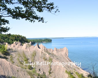 Instant Download Landscape Photography Lake Ontario Chimney Bluffs