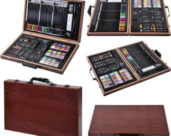 Brand New 80-Piece Deluxe Drawing And Painting Art Set With Wooden Case & Accessories