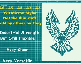 Tattoo style Eagle  STENCIL Tattoo StyleTough Reusable 350 Micron Material Various Sizes  #T017