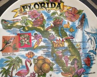 A Gift Corp Souvenir Plate Florida