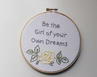 embroidery hoop art. Embroidered. Hand embroidery. Modern embroidery. Feminist art. Feminism. Feminist. Gifts for girls.