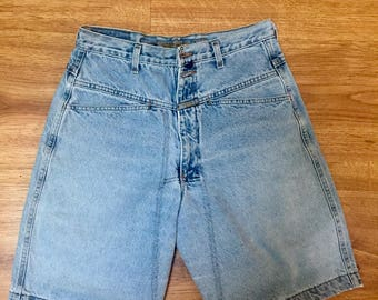 90s STONE WASHED Marithe & Francois Girbaud mens denim shorts // size 30