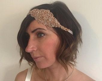 Rose Gold Hair Accessory - Bridal Headpiece - Boho Headpiece - Rose Gold Jewellery - Bridal Hair Piece - Boho Jewellery