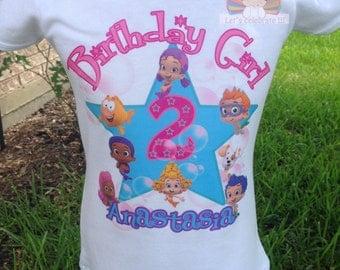 Bubble Guppies Molly Birthday shirt, Bubble Guppies Birthday Shirt