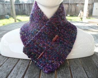 Versatile Purple/Multicolored Neck Warmer