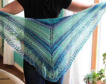 Spring Shawl - Knit Wrap - Knit Shawl - Women Scarf for Spring