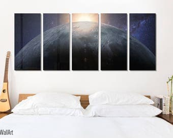 Moon Wall Art Metal Print Decor Ready to Hang