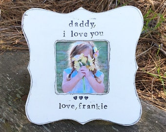 Dad gift Gift for dad Daddy gift Father's Day gift for dad personalized picture frame for dad from child - Flowers in December Design Studio