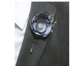 Blue Wedding Boutonniere Grooms Boutonniere Groomsmen Boutonniere Mens Wedding Boutonniere  Boutonniere Wedding   Boutonniere