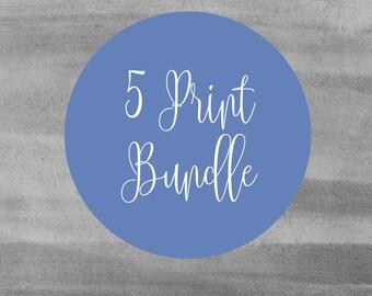 Set of Five Prints