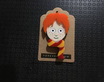 Ron acrylic laser cut brooch