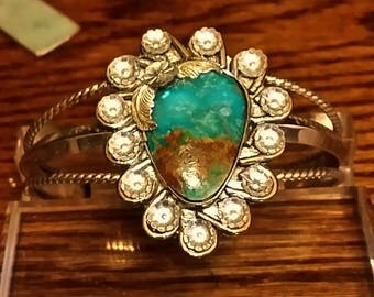 Sterling Silver & Kingman Turquoise Cuff Bracelet