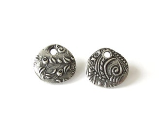 """Jardin charms 5/8"""" by TierraCast in antique pewter finish, Dulce Vida collection, jewellery making bracelet or necklace charm"""