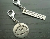 SHE Persisted handstamped planner charm choose round or rectangle
