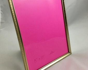 Vintage 8x10 Embossed Ornate Gold Metal Picture Frame Photo Frame Wedding Sign