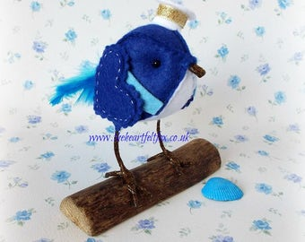Little Tweet - Sailor Bird - Nautical - Seaside - Ship - Boat - Gift for him - Driftwood