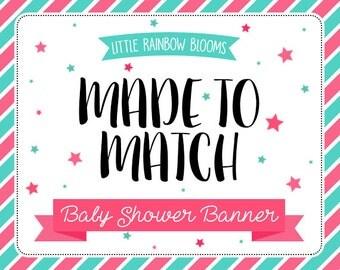 M2M Baby Shower Banner - Add On