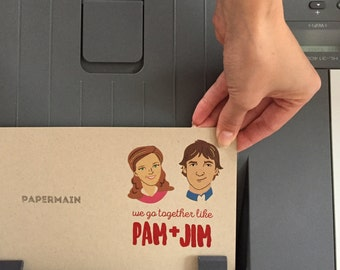 Printable The Office TV Show Card, Pam and Jim Card, Print at Home Card, Love Anniversary Card