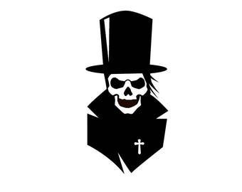 Grave Digger Skull - Di Cut Decal - Car/Truck/Home/Laptop/Computer/Yeti/Tumbler/Macbook/Phone Decal