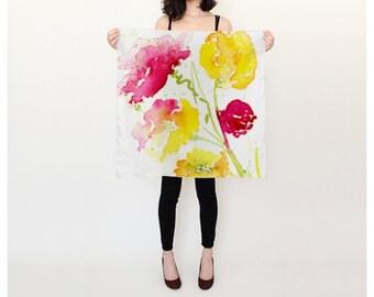 Spring silk scarf 26x26