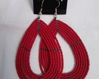 Oval Masai earrings