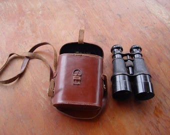 WWI British Army Cased Officer / Soldier Binoculars ~ Inscribed Caroline Aspelin