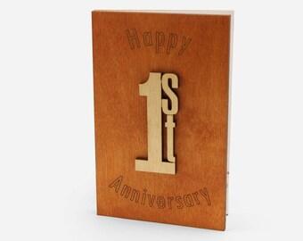 Happy anniversary wood anniversary card anniversary card