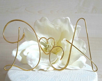 Wedding cake topper, handmade wire cake topper, anniversary topper, custom initials, wedding cake