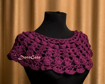 Crochet collar pattern, Detachable crochet collar Pattern, PDF download, Peter pan collar pattern, Instant Download /2002/