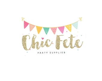 Party Logo! , Banner Party Logo , Glitter Logo  , Perfect For Your Business!
