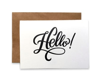 Letterpress Hello Card