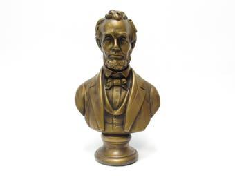 Vintage 1960s Abraham Lincoln  Bust- Ceramic
