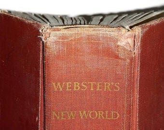 Vintage Webster's New World Dictionary of the American Language, College Edition,1957 -reference book, hardcover,black & white,illustrations