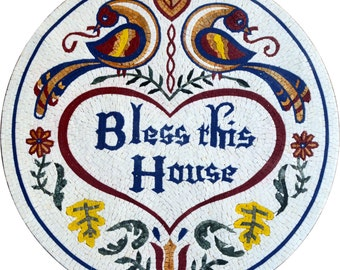 Mosaic Medallion - Home Blessing