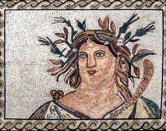 Roman goddess Mosaic Mural
